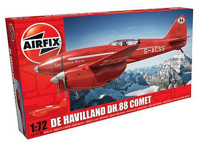 Airfix DeHavilland DH88 Comet Racer Red RAF Aircraft -- Plastic Model Airplane Kit -- 1/72 -- #01013