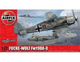 Airfix Focke-Wulf FW190A-8 Plastic Model Airplane Kit 1/72 Scale #01020