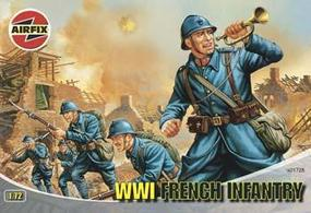 Airfix WWI French Infantry Plastic Model Military Figure 1/72 Scale #01728