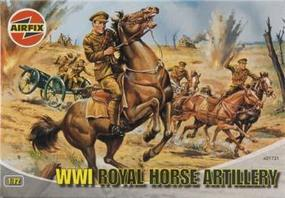 Airfix WWI Royal Horse Artillery Figure Set Plastic Model Military Figure 1/72 Scale #01731