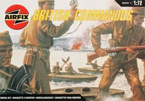 Airfix WWII British Commandos Figure Set Plastic Model Military Figure Kit 1/72 Scale #01732