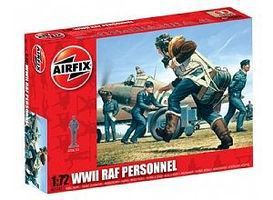 Airfix WWII RAF Personnel Figure Set Plastic Model Military Figure Set 1/72 Scale #01747