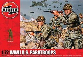 Airfix US Paratroops Plastic Model Military Figure 1/72 Scale #01751