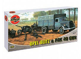 Airfix Opel Blitz German Army Truck w/Pak 40 Anti-Tank Gun Plastic Model Vehicle 1/76 #02315