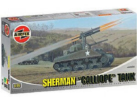 Airfix M4 Sherman Tank w/Calliope Rocket Launcher Plastic Model Vehicle Kit 1/76 Scale #02334