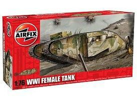Airfix WWI Female Tank Plastic Model Military Vehicle Kit 1/76 Scale #02337