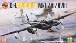 Airfix DEHVLND MOSQUITO MK -- Plastic Model Airplane Kit -- 1/72 Scale -- #03019