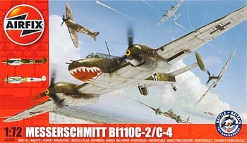 Airfix Messerschmitt Bf 110C-2/C-4 -- Plastic Model Airplane Kit -- 1/72 Scale -- #03080