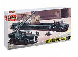 Airfix RAF Recovery Set- Cole Mk 7 Crane & Queen Mary Trailer Plastic Model Military 1/76 #03305