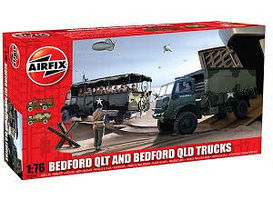 Airfix Bedford QLT & QLD Military Trucks (2 Kits) Plastic Model Military Vehicle Kit 1/76 #03306