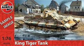 Airfix PZKW V1 King Tiger Tank Plastic Model Military Vehicle Kit 1/76 Scale #03310