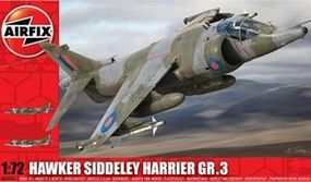 Airfix Hawker Harrier GR3 Support Aircraft Plastic Model Airplane Kit 1/72 Scale #04055
