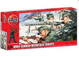 Airfix German Mountain Troops Plastic Model Military Figure Set 1/32 Scale #04713