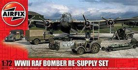 Airfix WWII RAF Bomber Re-Supply Set Plastic Model Military Diorama 1/72 Scale #05330