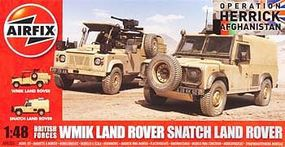 Airfix British Forces Land Rover Twin Plastic Model Military Vehicle Kit 1/48 Scale #06301