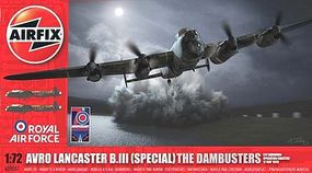 Airfix Avro Lancaster B.III The Dambusters Plastic Model Airplane Kit 1/72 Scale #09007