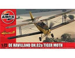 Airfix DeHavilland DH82a Tiger Moth WWII BiPlane Plastic Model Airplane Kit 1/72 Scale #1025