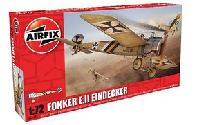 Airfix WWI Fokker EII Eindecker German Fighter Plastic Model Airplane Kit 1/72 Scale #1086