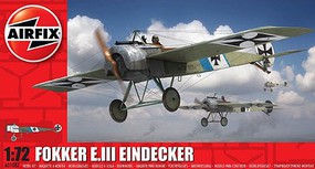 Airfix Fokker E III Eindecker German Fighter Plastic Model Airplane Kit 1/72 Scale #1087
