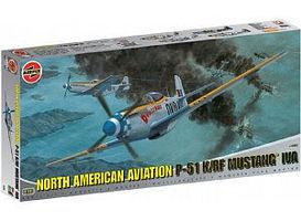 Airfix P51K/RF Mustang Fighter (Re-Issue) Plastic Model Airplane Kit 1/24 Scale #14003