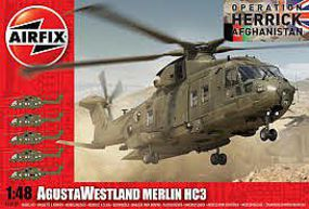 Airfix AgustaWestland Merlin HC3 Helicopter Plastic Model Helicopter Kit 1/48 Scale #14101