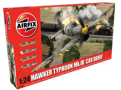 Airfix Hawker Typhoon Mk 1b (Car Door) Fighter -- Plastic Model Airplane Kit -- 1/24 Scale -- #19003
