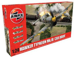 Airfix Hawker Typhoon Mk 1b (Car Door) Fighter Plastic Model Airplane Kit 1/24 Scale #19003