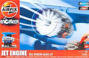 Airfix Jet Engine Working Model Kit w/Sound & Lights -- Plastic Model Engine Kit -- #20005