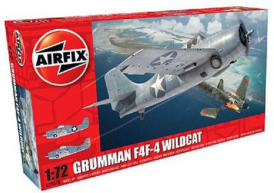 Airfix F4F4 Wildcat Fighter -- Plastic Model Airplane Kit -- 1/72 Scale -- #2070