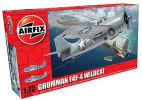 Airfix F4F4 Wildcat Fighter Plastic Model Airplane Kit 1/72 Scale #2070
