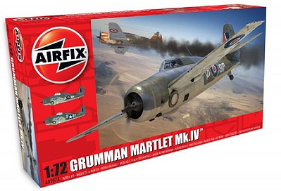 Airfix Grumman Martlet Mk IV Fighter (New Tool) -- Plastic Model Airplane Kit -- 1/72 Scale -- #2074