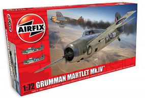 Airfix Grumman Martlet Mk IV Fighter (New Tool) Plastic Model Airplane Kit 1/72 Scale #2074