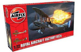 Airfix RAF BE2C Biplane Fighter (New Tool) Plastic Model Airplane Kit 1/72 Scale #2101