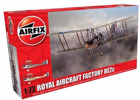 Airfix Factory BE2C Scout Recon RAF Biplane Plastic Model Airplane Kit 1/72 Scale #2104