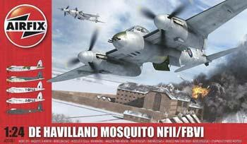 Airfix DeHavilland Mosquito FB VI Fighter (Re-Issue) -- Plastic Model Airplane Kit -- 1/24 Scale -- #25001