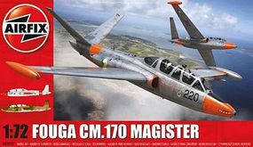 Airfix Fouga Magister 2-Seater Twin-Jet Trainer Plastic Model Airplane Kit 1/72 Scale #3050