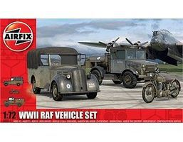 Airfix WWII RAF Tilly, Bedford & Motorcycle Plastic Model Military Vehicle Kit 1/72 Scale #3311