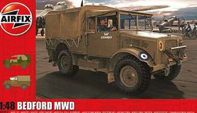 Airfix Bedford MWD Light Military Truck Plastic Model Vehicle Kit 1/48 Scale #3313