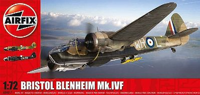 Airfix Bristol Belnheim Mk IV Fighter (New Tool) -- Plastic Model Airplane Kit -- 1/72 Scale -- #4017