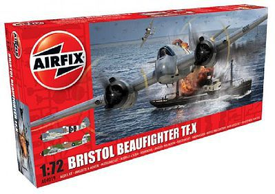 Airfix Bristol Beaufighter Mk X Long-Range Heavy Fighter Plastic Model Airplane KIt 1/72 #4019