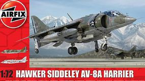 Airfix Hawker Siddeley Harrier AV8A US Combat Aircraft Kit Plastic Model Airplane 1/72 Scale #4057