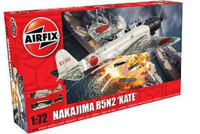 Airfix Nakajima B5N2 Kate Bomber Plastic Model Airplane Kit 1/72 Scale #4058