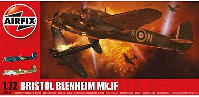 Airfix Bristol Blenheim Mk1F Aircraft Plastic Model Airplane Kit 1/72 Scale #4059