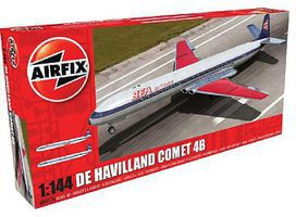 Airfix DeHavilland Comet 4B Commercial Airliner Plastic Model Airplane Kit 1/144 Scale #4176