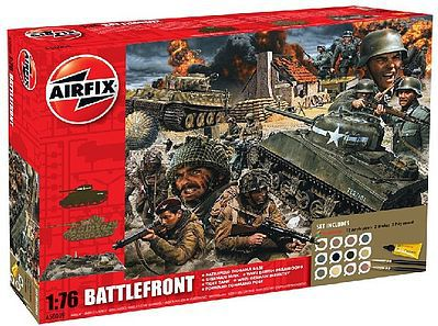 Airfix Battle Front Diorama Gift Set -- Plastic Model Military Diorama Kit -- 1/72 Scale -- #50009