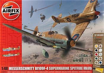 Airfix Dogfight Double Spitfire MKVB/BF109F Gift Set
