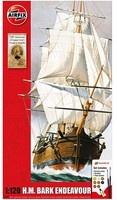 Airfix 1/120 HMS Bark Endeavour Sailing Ship & Captain Cook 250th Anniversary Gift Set w/paint & glue