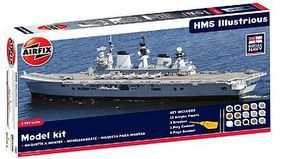Airfix HMS Illustrious British Aircraft Carrier Ship Plastic Model Ship Kit 1/350 Scale #50059