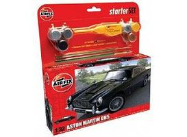 Airfix Aston Martin DB5 Race Car Medium Starter Set Plastic Model Car Kit 1/32 Scale #50089
