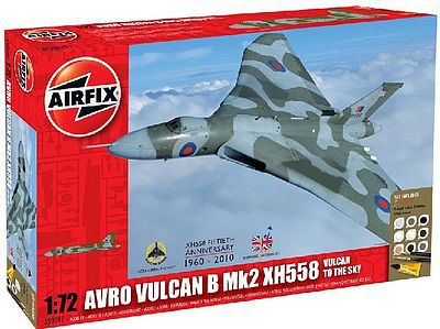 Airfix Avro Vulcan XH558 Aircraft -- Plastic Model Airplane Kit -- 1/72 Scale -- #50097